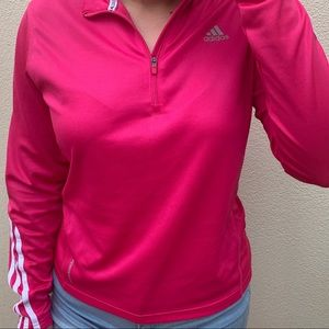 Pink Adidas Dry-Fit Sweater
